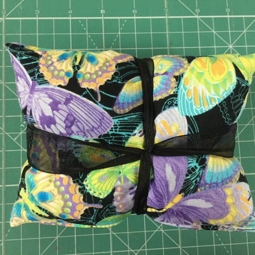 Turquoise & Lime Green Butterflies Wheat Bag