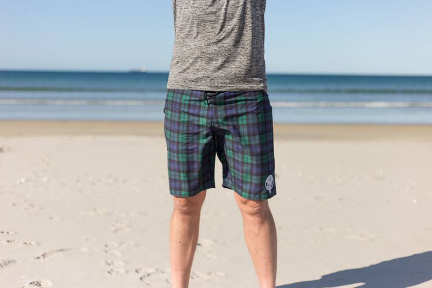 SURFINJOCK Scottish Blackwatch Tartan Boardshorts Board Shorts - Unique Design - FREE SHIPPING