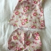 BNWOT Handmade A Line Peasant Neck Dress with Bloomers - 100% Cotton Ages 12, 18, 24 months - Pink Roses