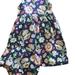 BNWOT Handmade Dress Age 3 - Indigo Bright Flowers - 100% Cotton