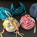 Crochet drawstring pouches