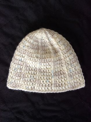 Crochet wool baby hat