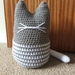 Crochet cat whiskers doorstop