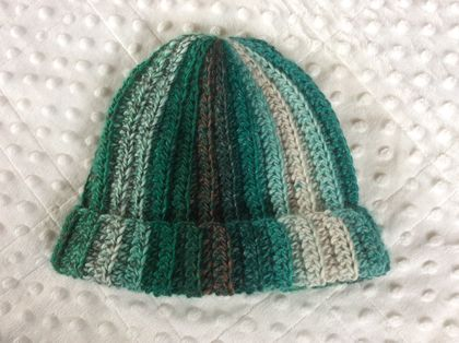 Crochet child rib beanie