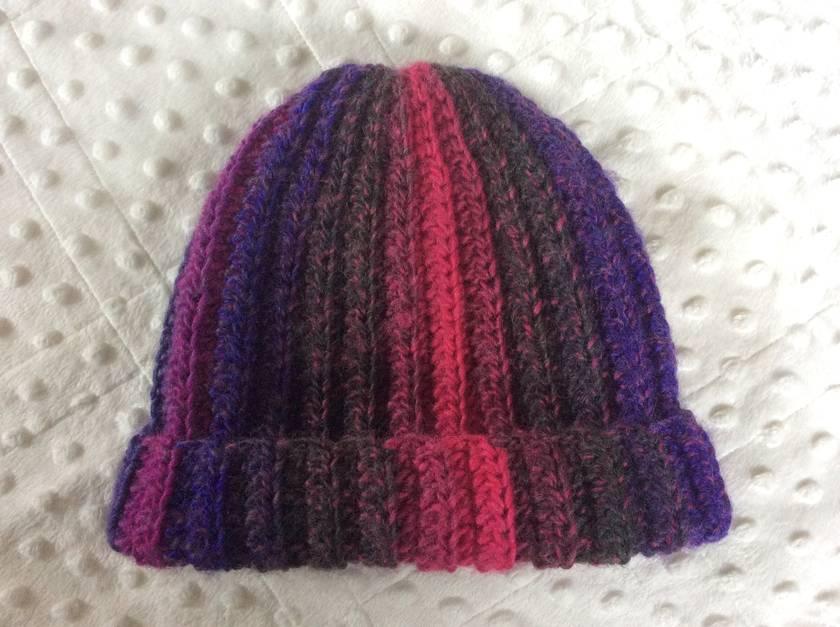 Crochet child rib beanie