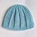 Crochet merino baby hat