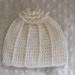 Crochet merino flower top baby beanie