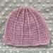 Crochet merino baby beanie 0-3mth