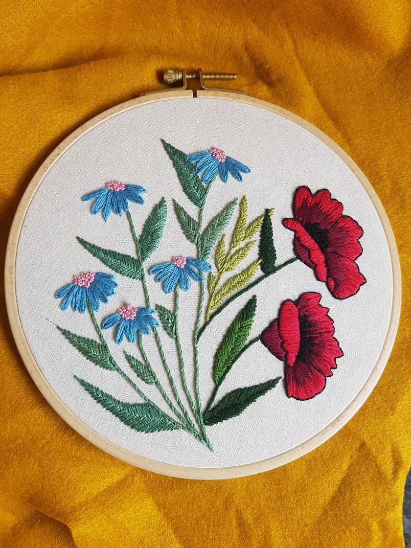 Wildflowers Hand Embroidery