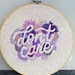 """Don't Care"" Purple Hand Embroidery"