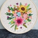 Bright Floral Hoop hand-Embroidery