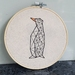 Geometric Penguin Hand Embroidery