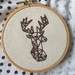 Deer Hand Embroidery