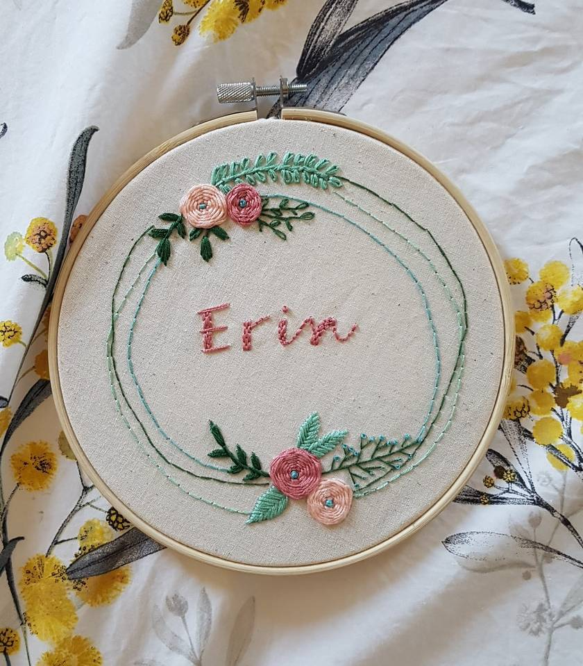 Customised Name hand-Embroidery