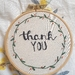 Thank you Hand Embroidery