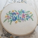 "Colourful ""Smile"" floral hand-Embroidery"