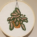Prayer Plant in pot Hand Embroidery