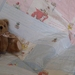 "Patchwork Quilt for Baby ""Bunnies & Cream"" in blues & pinks"