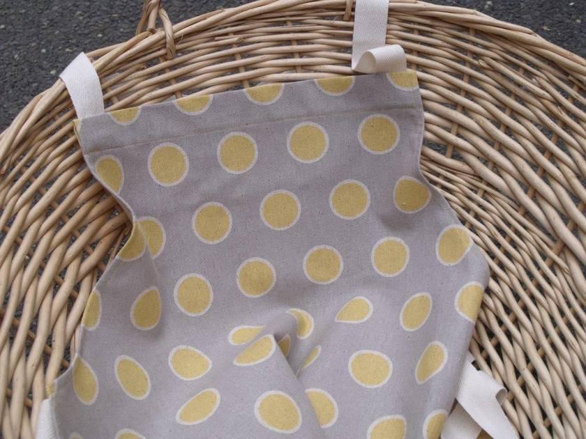 Apron - Sunny yellow spot on grey