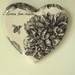 'Chunky Wall Hearts' Handmade Art at the Villa NEW