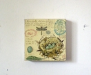 Dragonflies & Birds Nests...  Canvas Art    Handmade   Art at the Villa