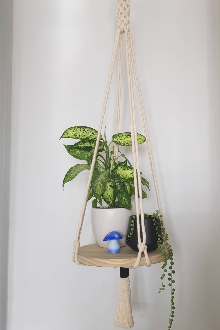 Macrame Floating Shelf
