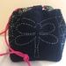 Sashiko stitched kinchaku craft bag