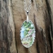 """At the beach"" pendant - upcycled china pendant P048"