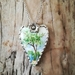 """Queen Ann"" pendant - upcycled vintage china P017"
