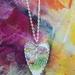 """""""Under the bridge"""" Heart upcycled china pendant P046"""