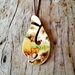 """Harvest time"" Matau pendant - upcycled china pendant P099"