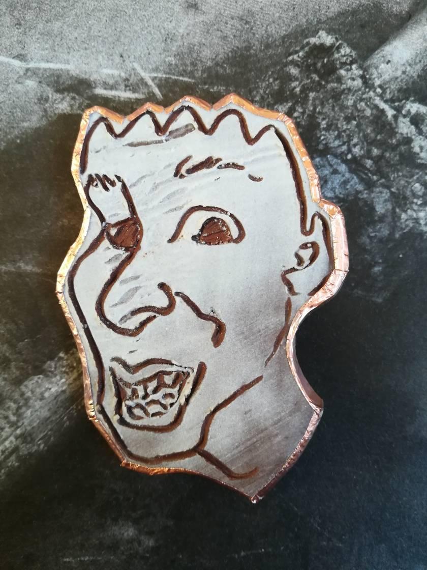 Handmade Ceramic Brooch