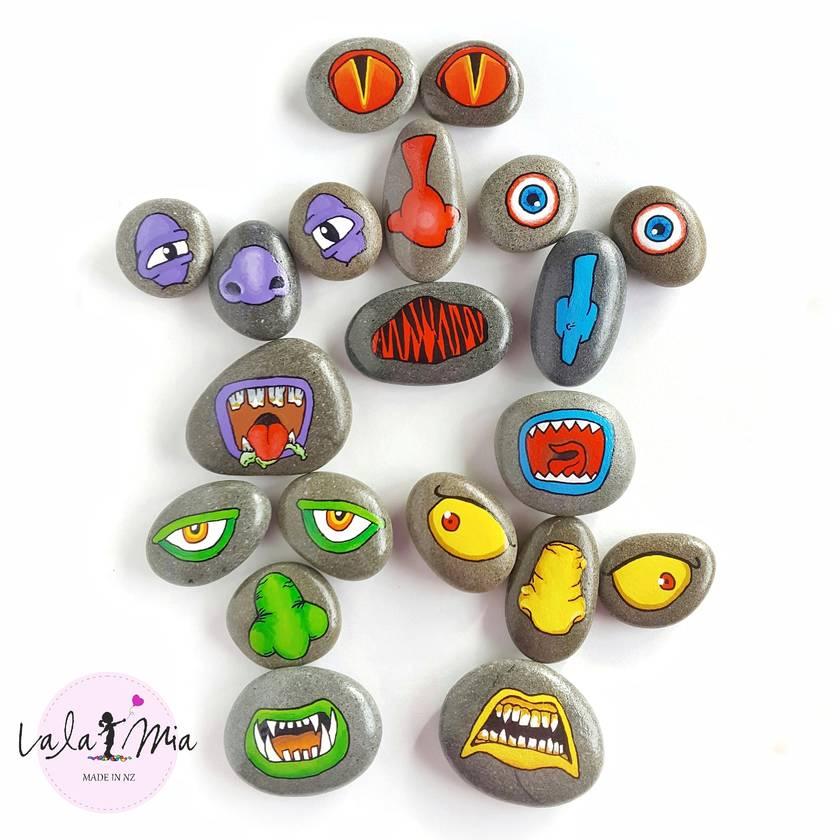 Make-A-Face Stones