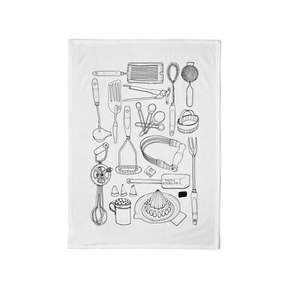 Super Duper Cotton Tea Towel: Retro Kitchen