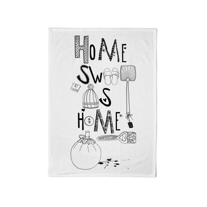 Super Duper Cotton Tea Towel: Home Sweet as Home