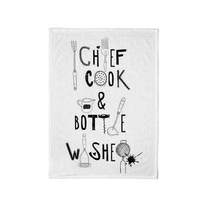 Super Duper Cotton Tea Towel: Chief Cook and Bottle Washer