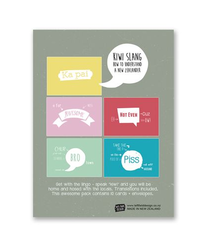 Boxed Set - Kiwi Slang Gift Cards
