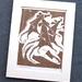 Lino Cut Print: Three Blind Mice