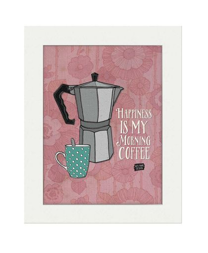 Print: Happiness is my Morning Coffee