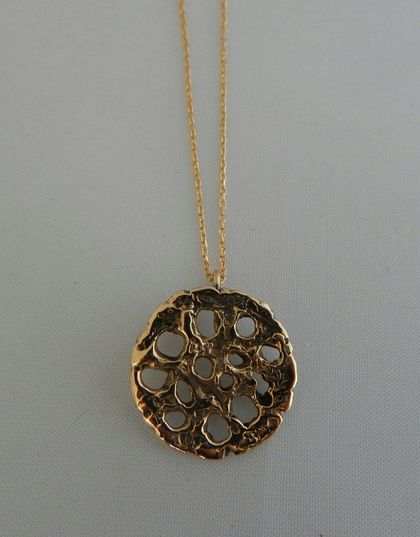 Lotus Pod Necklace in 9ct gold