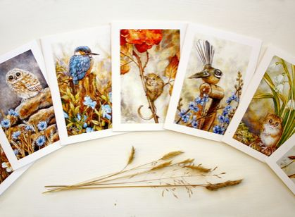 Greeting Cards - Choose 5 - Bird & Animal Art Card Set