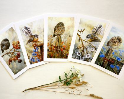 Greeting Cards - NZ Native Birds - Art Cards