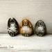 Painted Pebble Rabbit Pin - Animal Art Brooch - Tiny Painted Rocks Bunny Jewellery