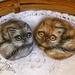 Cat Painted Rocks - Cat Art