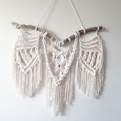 """Fly my Pretty""  Macrame Wall Hanging"