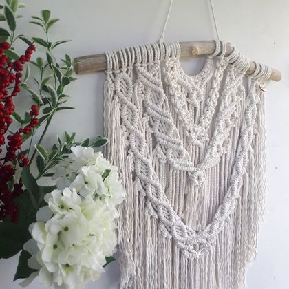 """Arabesque""  Macrame Wall Hanging"