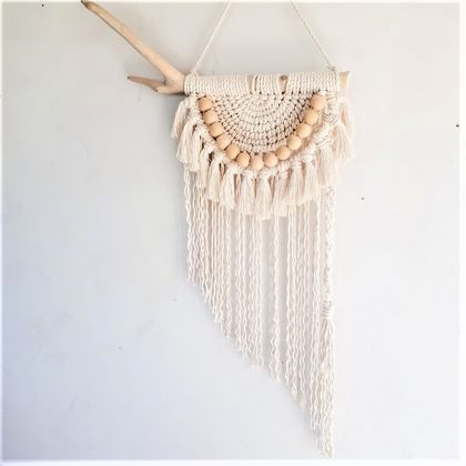 """Squirrel""  Macrame Wall Hanging"