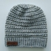 Star Braid Beanie - Pure Wool - Grey