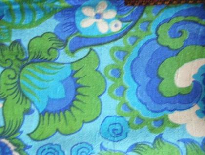 Bright Green & Bule Silk + Merino Wool Scarf