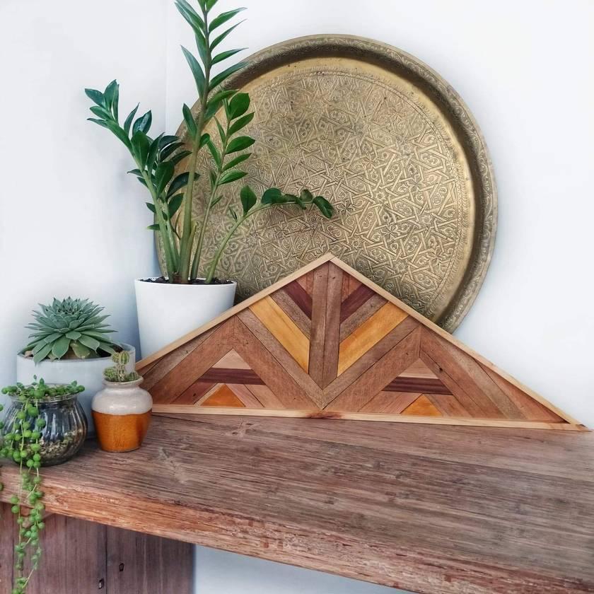 """""""INDY"""" -  Repurposed Wood Mosaic Art"""